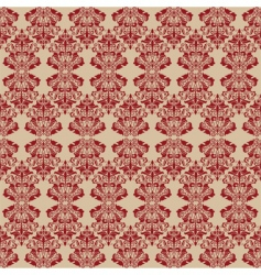 damask style wallpaper vector image vector image