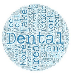 Dental assistants in orthodontics text background vector