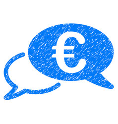 euro chat grunge icon vector image