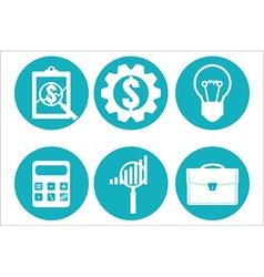 Financial examiner icon Economic statistic icon vector image vector image