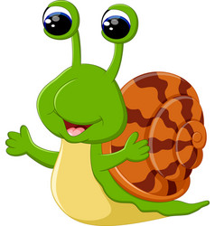 funny snail cartoon vector image