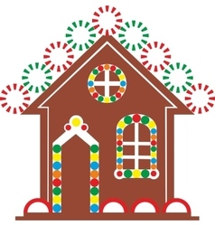 Gingerbread house color 03 vector image