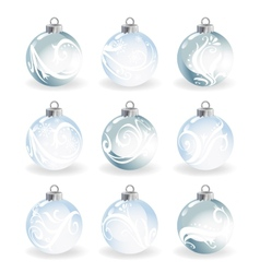 Glass christmas balls vector