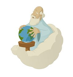 God create the world vector image vector image