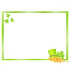 green frame vector image vector image