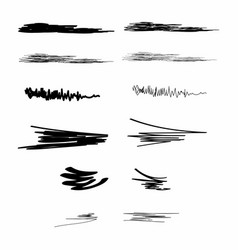 ink brush strokes set of paint spots hand drawn vector image vector image