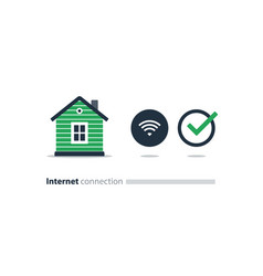 internet access at home wi-fi icon smart solution vector image vector image