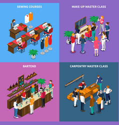 Master class and courses concept vector