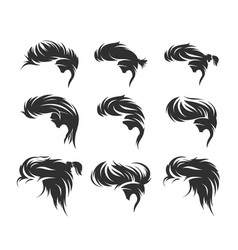 men hairstyles and haircuts isolated vector image vector image