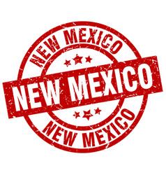 New mexico red round grunge stamp vector