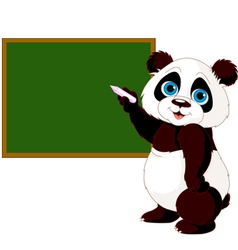 Panda writing on blackboard vector image vector image