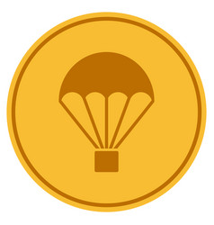 Parachute gold coin vector