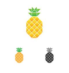pineapple logo template fruit logotype vector image vector image