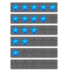 Rating buttons vector image