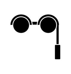 Retro glasses icon vector
