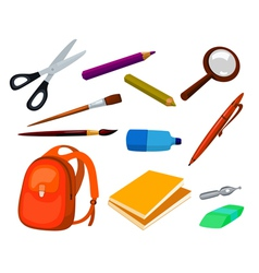 school education items set vector image