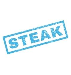 Steak rubber stamp vector