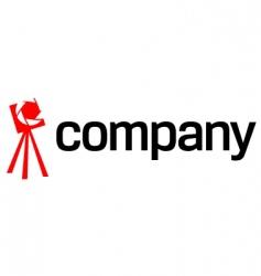 tripod camera logo vector image