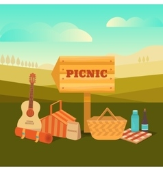 Picnic outdoors vector