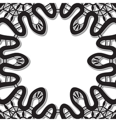 Lace on white vector image