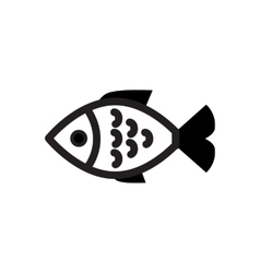 Fish black simple icon vector