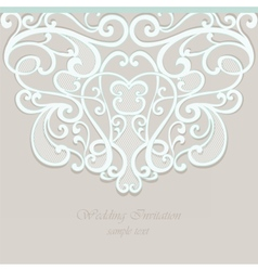 Lace ornamented invitation card with ornaments vector