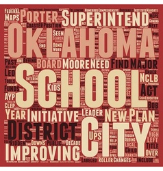 Oklahoma city schools find new leader text vector