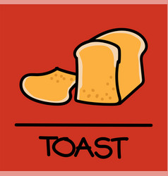 Toast hand-drawn style vector