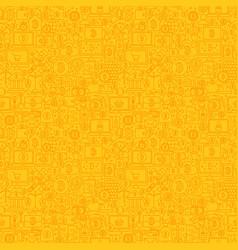 Yellow line bitcoin seamless pattern vector