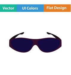 Poker sunglasses icon vector