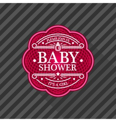 Baby shower emblem vector