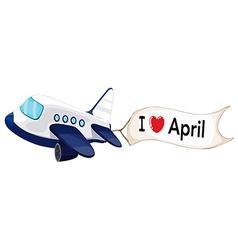 I love April vector image