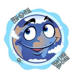 Funny earth vector