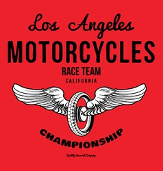 Motorcycle typography t-shirt graphics print vector