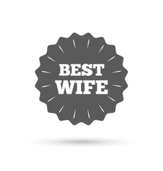 Best wife sign icon award symbol vector