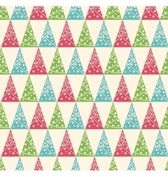 Seamless winter pattern with stylized decoration vector