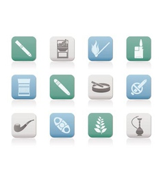 Smoking and cigarette icons vector