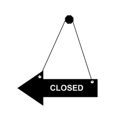 Closed door sign vector