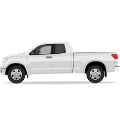 Pick-up truck side view vector