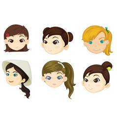 Girls heads vector