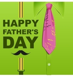 Happy Fathers Day Template green greeting card vector image