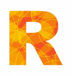 Abstract font letter r vector
