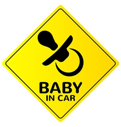 Baby in car sign vector