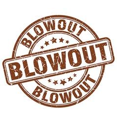 Blowout brown grunge round vintage rubber stamp vector