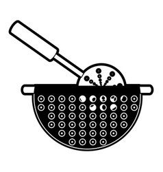 bowl drainer vector image vector image