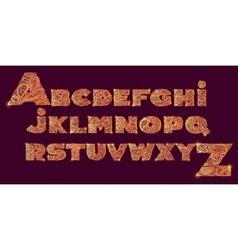 Decorative Alphabet with a paisley zen doodle vector image vector image