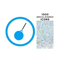 Destruction hammer rounded icon with 1000 bonus vector