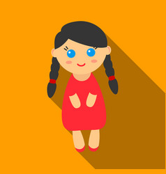 doll flate icon for web and mobile vector image vector image