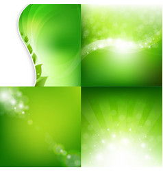 Eco natural backgrounds set vector