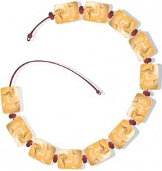 Elegant bracelet vector